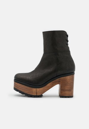 KENNA PLATFORM BOOT - Botines con cordones - black