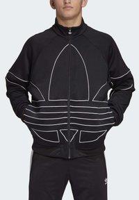 adidas Originals - BIG TREFOIL OUTLINE TRACK TOP - Training jacket - black - 4