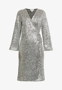 Monki - SANDRA DRESS - Cocktailkjoler / festkjoler - silver - 4