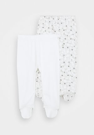 2 PACK - Leggings - white
