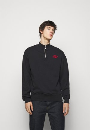 HALF ZIP - Sweater - faded black/red