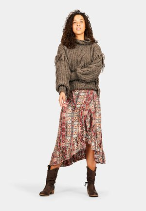 Wrap skirt - indian mix red