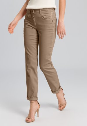 Straight leg jeans - taupe varied