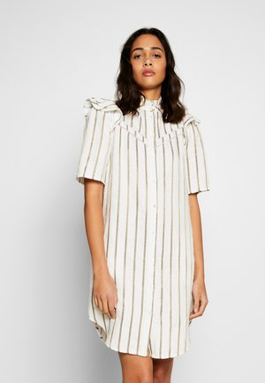 STRIPED DRESS WITH LADDER TAPES - Shirt dress - combo