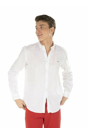 CON IMPUNTURE - Camicia - bianco