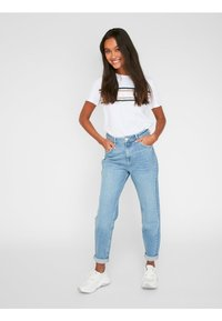 Pieces - Relaxed fit jeans - light blue denim - 1