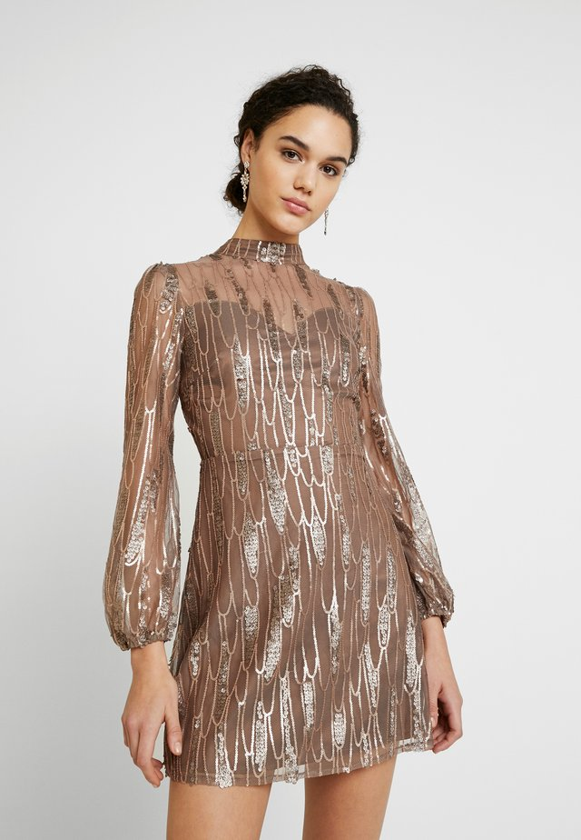 SCATTERED JEWELS - Cocktail dress / Party dress - bronze