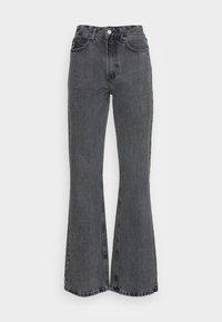 NINETTE - Flared Jeans - dark black