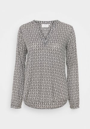 FANA TILLY BLOUSE - Langærmede T-shirts - black /chalk