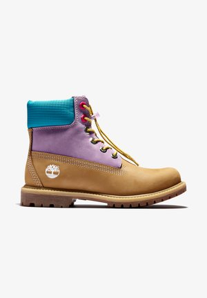 6 INCH PREMIUM BOOT L/F - Lace-up boots - wheat nubuck w pur