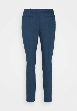 ORGANIC SLIM PANTS - Trousers - light marine