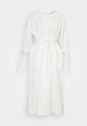 RAGLAN SLEEVE DRESS WITH GATHERED NECK AND CUFFS - Robe d'été - white