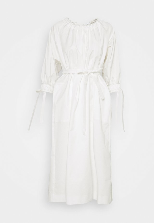 RAGLAN SLEEVE DRESS WITH GATHERED NECK AND CUFFS - Robe d'été - white