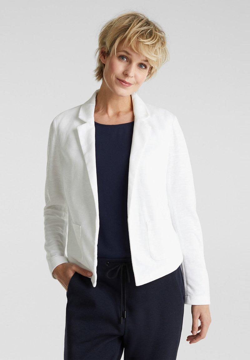Esprit - KNIT BLAZER - Blazer - white