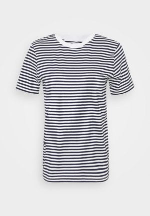 SLFMY PERFECT TEE BOX CUT - T-shirt imprimé - maritime blue/snow white