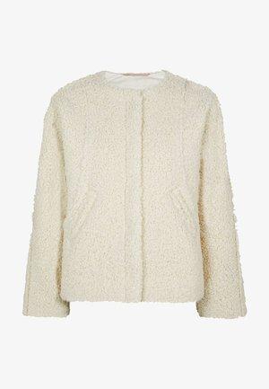 Fleece jacket - ecru