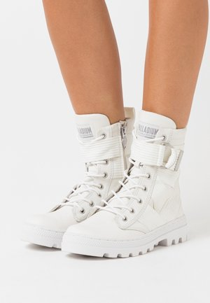 Bottines à lacets - star white