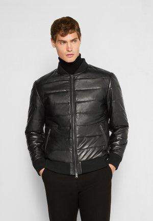 NAPPA PUFFER SEBASTIAN - Kožená bunda - black