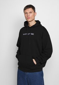 Pier One - WASTE OF TIME HOOD - Hoodie - black - 0