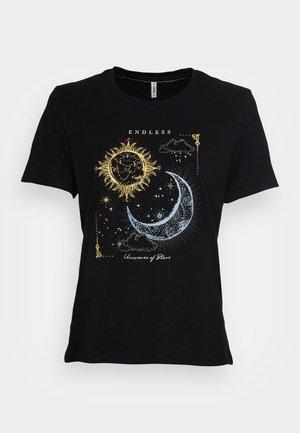 ONLMYSTIC LIFE BOX - Print T-shirt - black