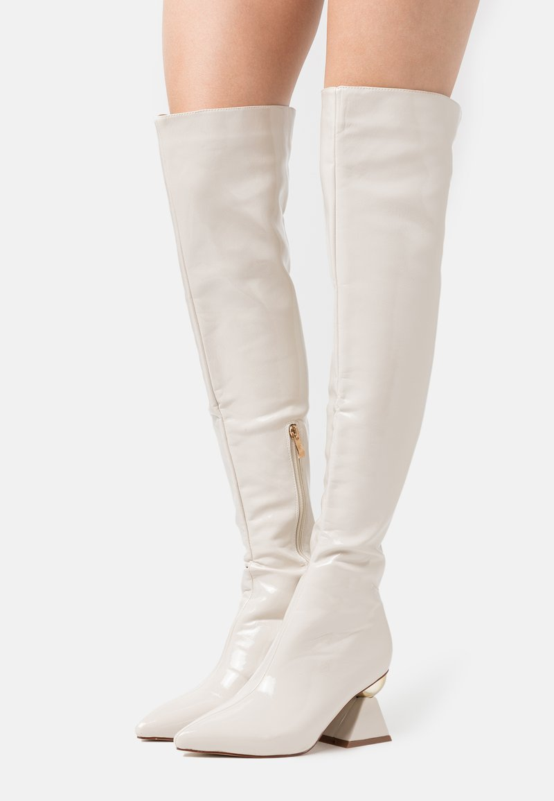 RAID - SPIRAL - Over-the-knee boots - offwhite