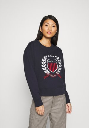 CREST NECK  - Sweater - evening blue