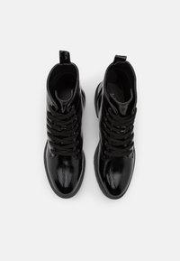 New Look Wide Fit - WIDE FIT DIGGER LACE UP - Šněrovací kotníkové boty - black - 5
