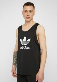 adidas Originals - TREFOIL TANK - Top - black - 0