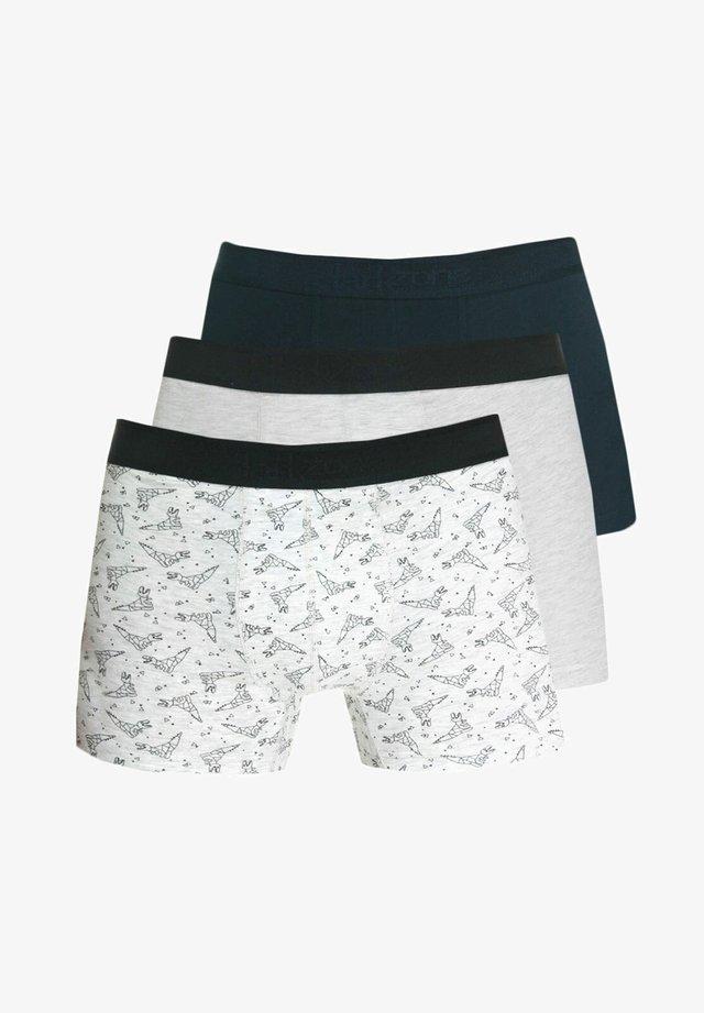 3 PACK - Pants - schwarz/ecru