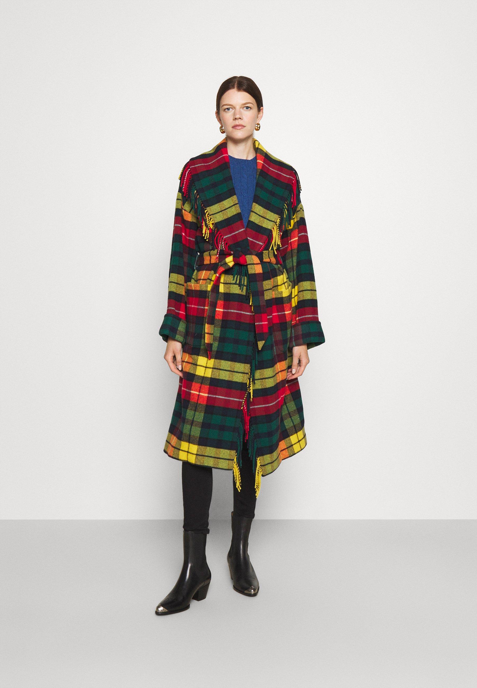 Donna COAT - Cappotto classico - red/yellow