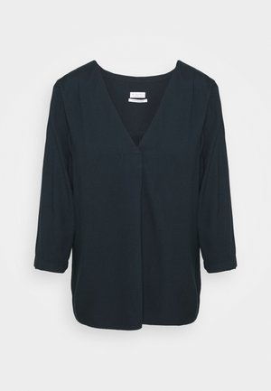BLOUSE WITH PLEAT - Blouse - night navy