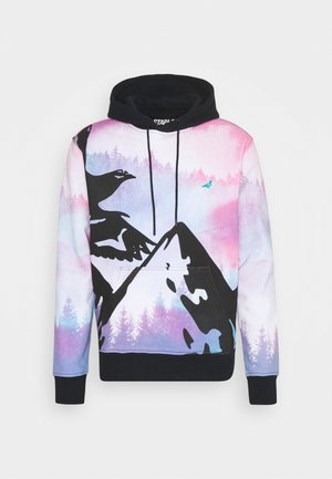 WATERCOLOR HOODIE UNISEX - Sweatshirt - black
