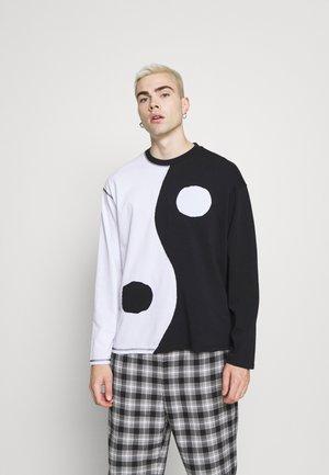 CUT AND SEW YIN AND YANG - Pitkähihainen paita - black/white