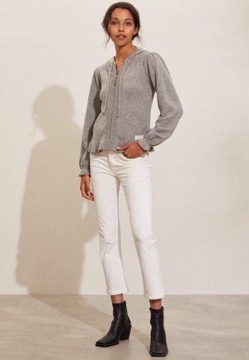 MELODY - Zip-up sweatshirt - grey melange