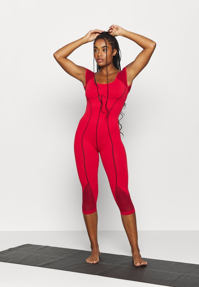 SOLID POINT BREAK ONESIE - Gym suit - dark red