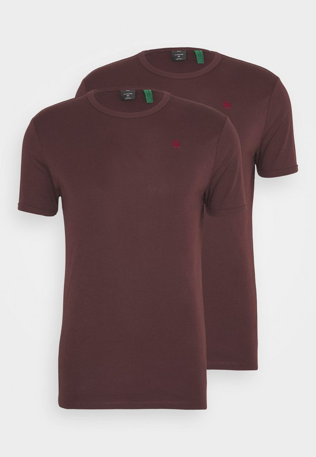 BASE 2 PACK - Basic T-shirt - dark fig