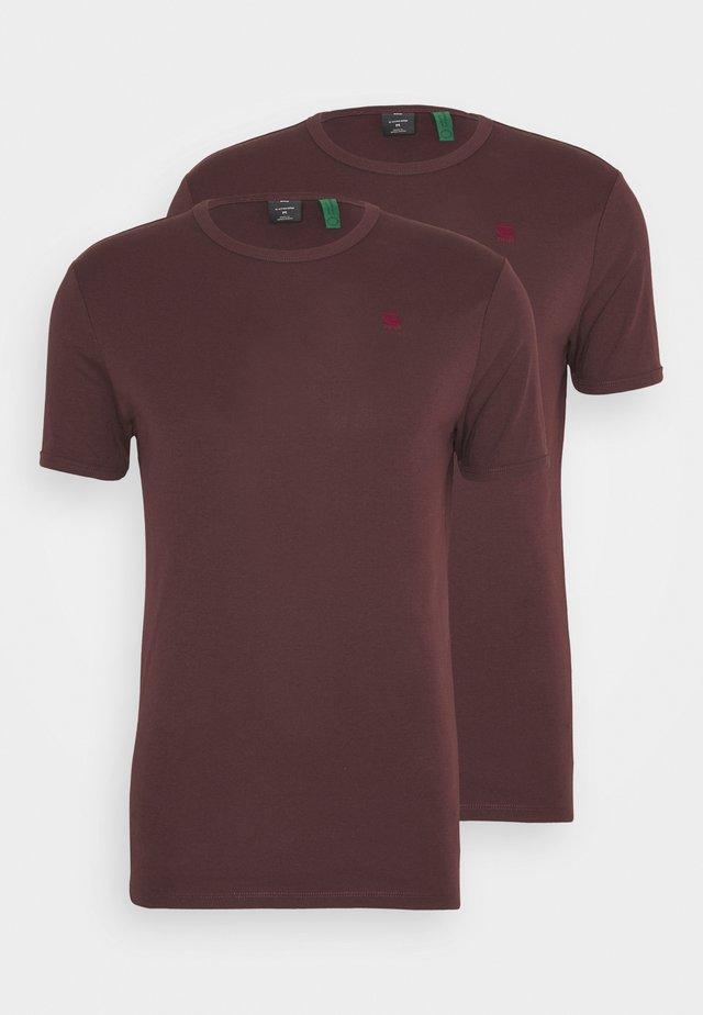 BASE 2 PACK - T-shirt basic - dark fig