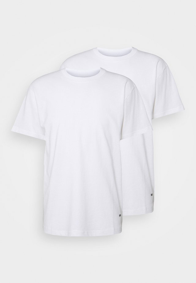 STANDARD ORGANIC TEE 2 PACK - Camiseta básica - white