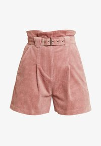 Lost Ink - PAPERBAG WITH BELT - Shorts - light pink - 4