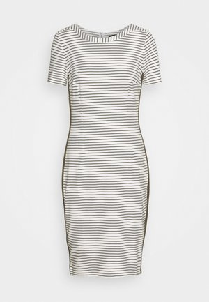 DRESS INTERLOCK - Shift dress - offwhite