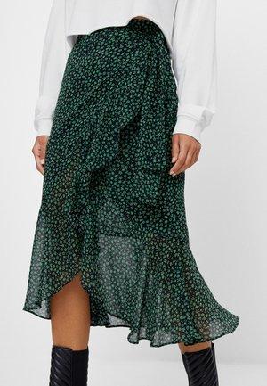 MIT PRINT  - Áčková sukně - black