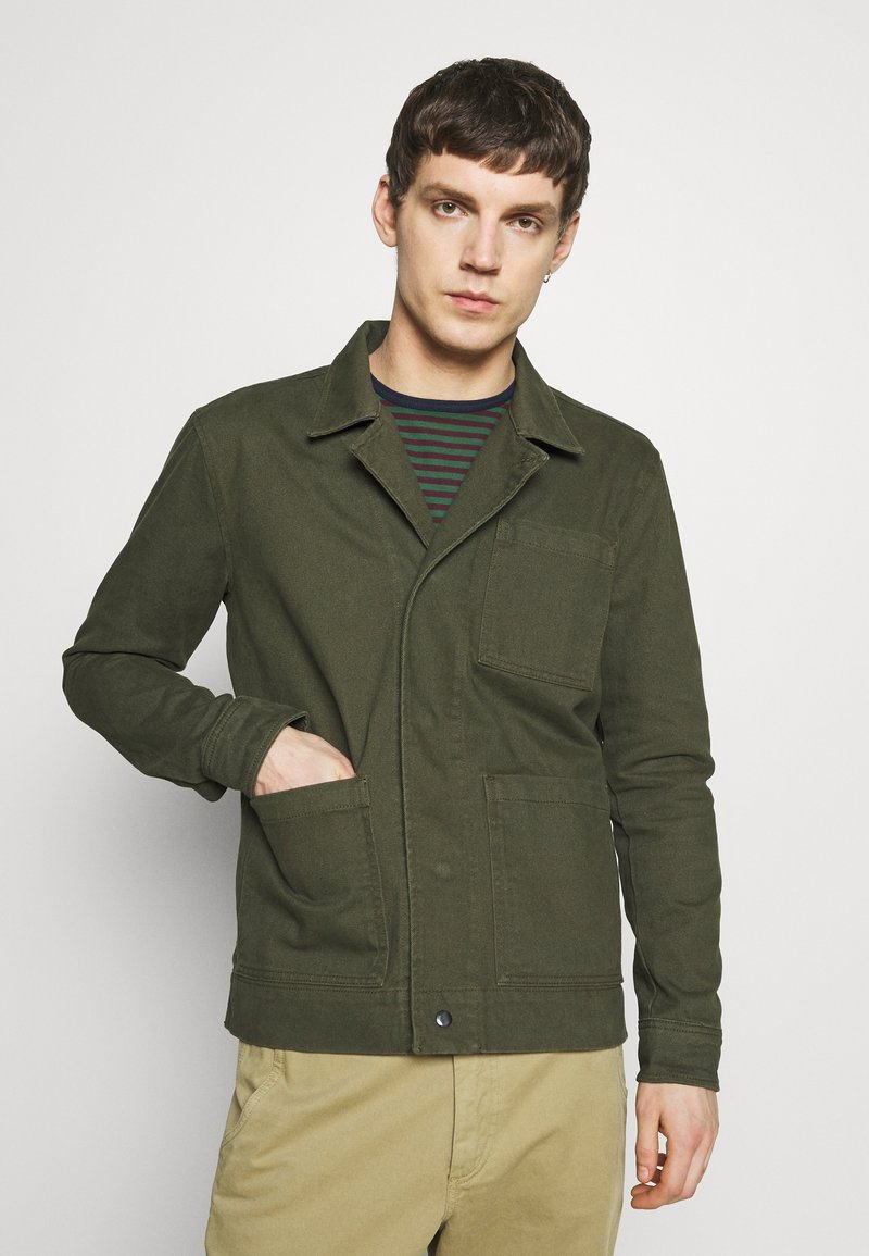 Knowledge Cotton Apparel - PINE HEAVY - Summer jacket - forest night