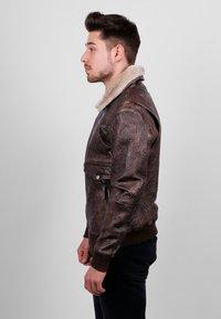 Freaky Nation - Leather jacket - dark brown - 3