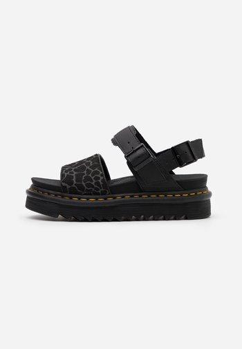VOSS - Platform sandals - black/grey