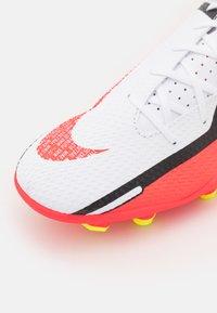 Nike Performance - PHANTOM GT2 CLUB FG/MG - Moulded stud football boots - white/bright crimson/volt - 5