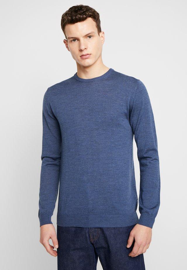 Stickad tröja - vintage blue