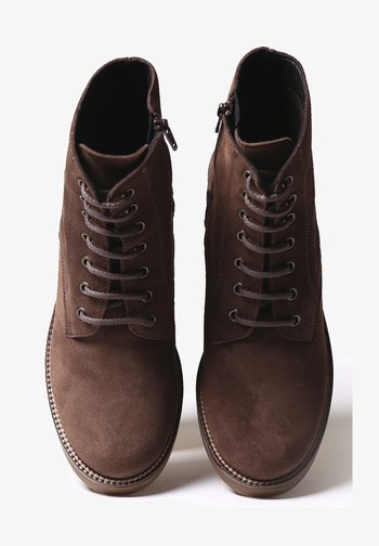 PAVIA-SY - Lace-up ankle boots - marro