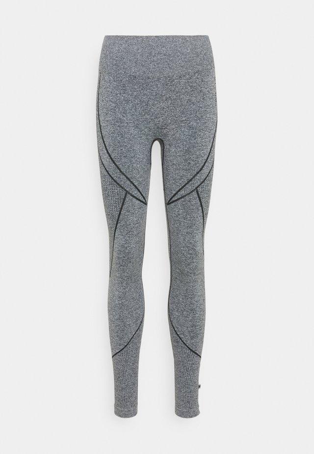 SEAMLESS TWO TONE HIGH WAIST LEGGINGS - Leggings - grey