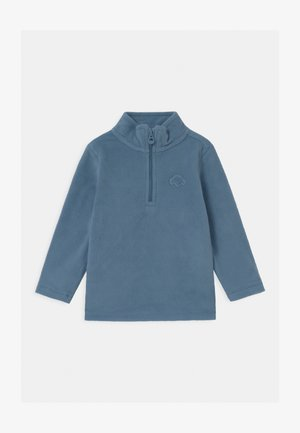 CREW NECK HALF ZIP - Felpa in pile - azure blue