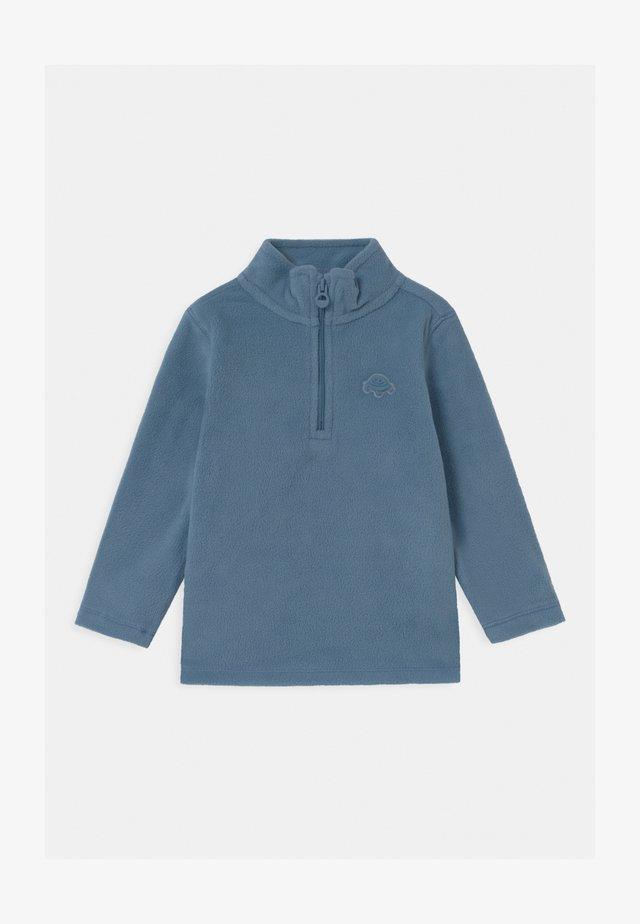 CREW NECK HALF ZIP - Forro polar - azure blue